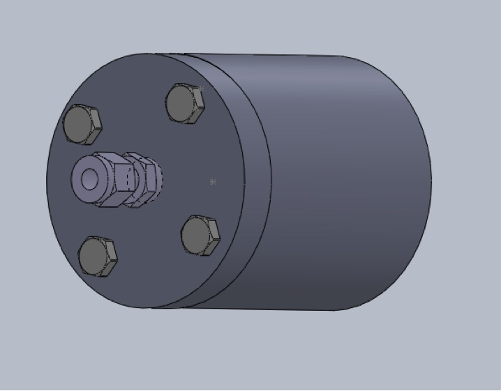 3D model of the pressure vessel exterior.