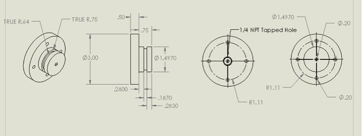 Figure 3. Drawing of vessel cap,