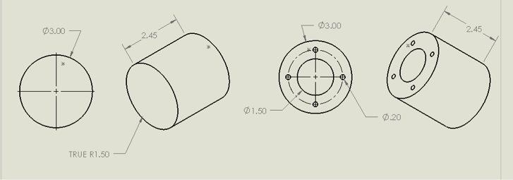 Figure 4. Drawing of vessel body.